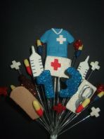 MEDICAL NURSE 13TH BIRTHDAY CAKE TOPPER DECORATION - COLOURS AS SHOWN - Free postage
